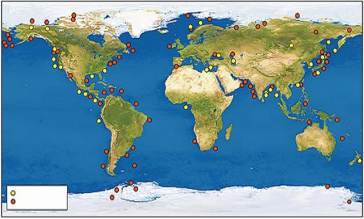 全球可燃冰资源分布图.